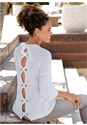 Cropped Back View Open Back Sweater