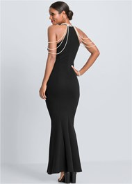 Full  view Pearl Detail Long Dress