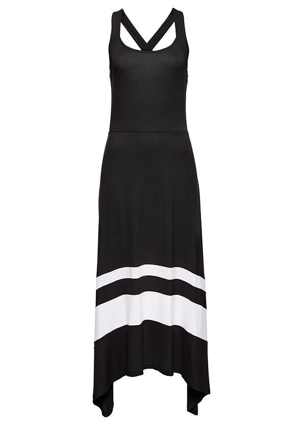 Alternate View Color Block Maxi Dress