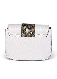 Flatshot back view Print Detail Handbag