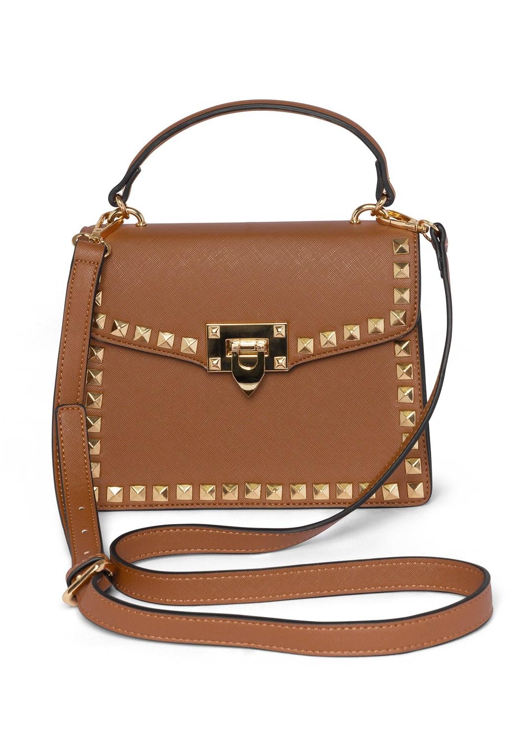 Stud Detail Handbag,Oversized Tassel Earrings