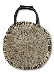 Flatshot back view Circular Straw Bag