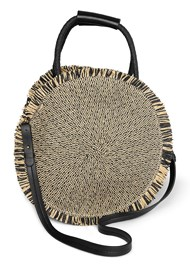 Flatshot front view Circular Straw Bag