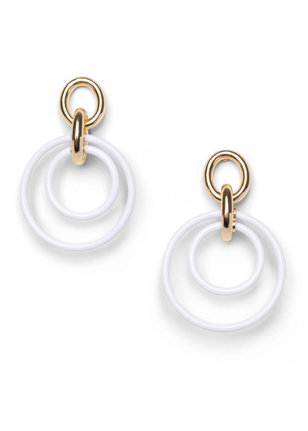 Color Block Hoop Earrings,Color Block Top,Mid Rise Slimming Stretch Jeggings