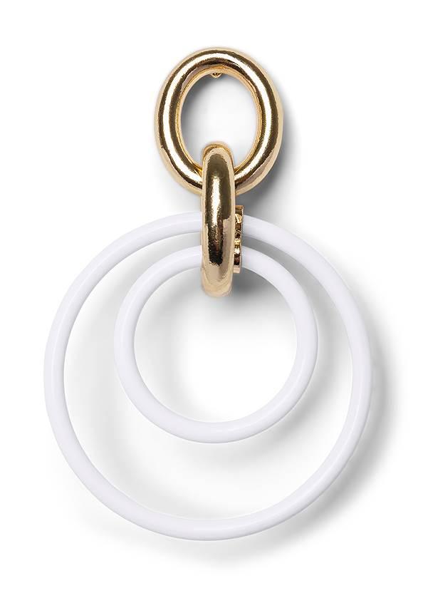 Detail  view Color Block Hoop Earrings