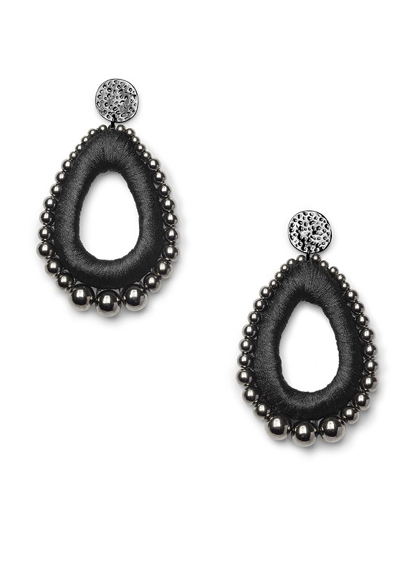 Tear Drop Earrings,Palm Print Maxi Dress,Embellished Low Wedges