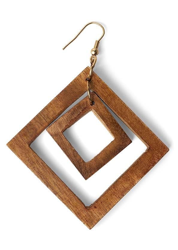 Detail  view Wood Earrings