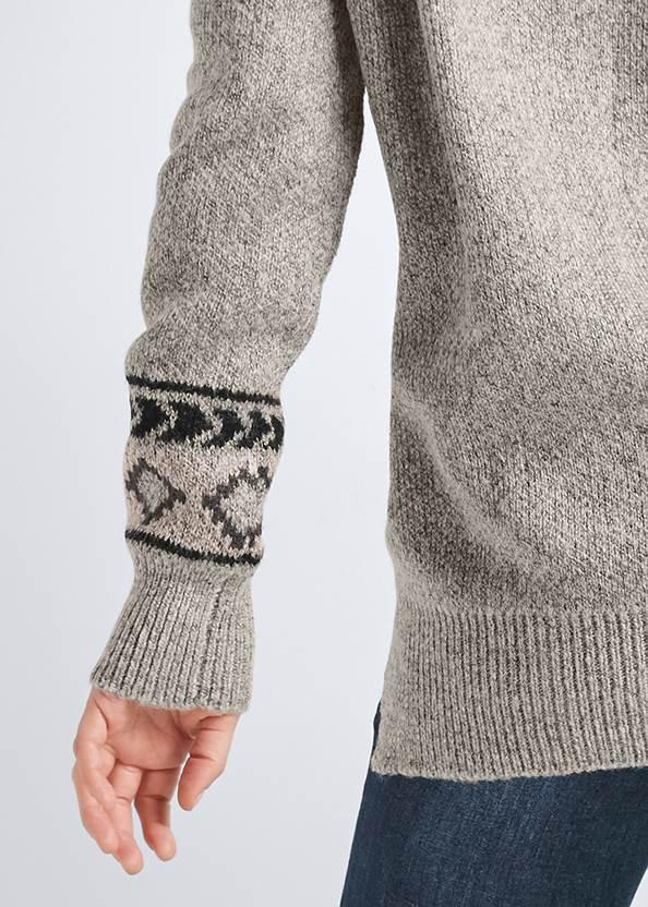 Alternate View Geometric Printed Sweater