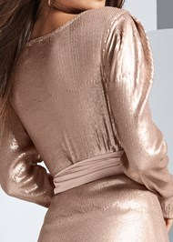Alternate View Belted Sequin Top