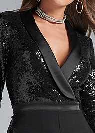 Detail front view Sequin Jumpsuit