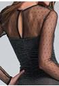 Alternate View Polka Dot Mesh Detail Dress