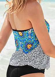 Alternate View Tie Side Blouson Tankini Top