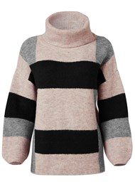 Alternate View Color Block Turtleneck
