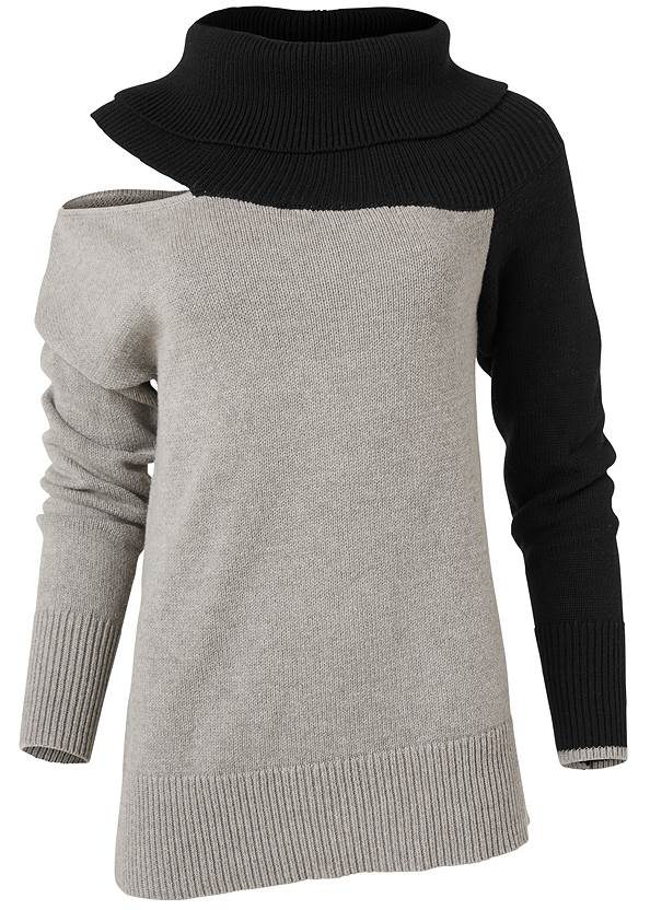 Alternate View One-Shoulder Sweater