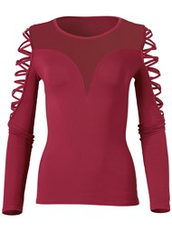Alternate View Mesh Crisscross Top