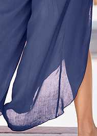 Alternate View Side Slit Cover-Up Jumpsuit