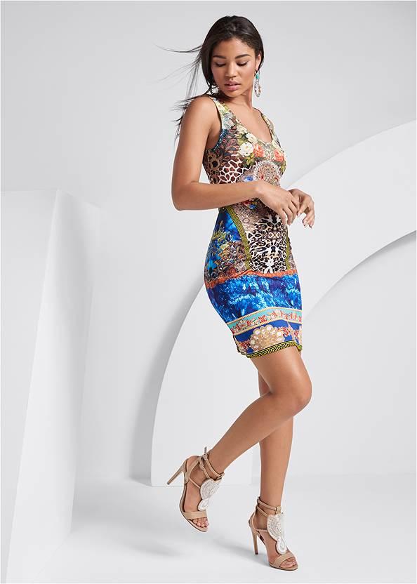 Alternate View Printed Embellished Dress