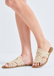 Detail accessorie/shoe view Crochet Sandals