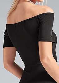 Alternate View Slit Detail Maxi Dress