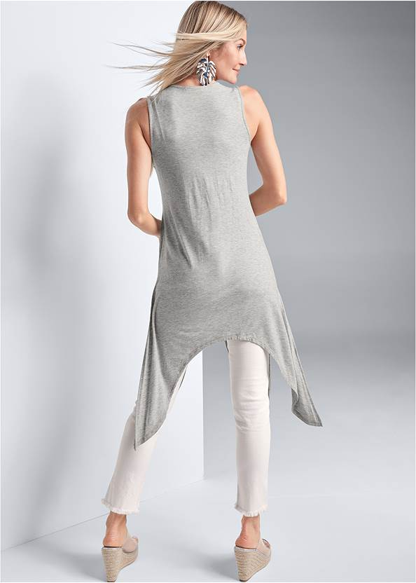Full back view Casual High Low Top