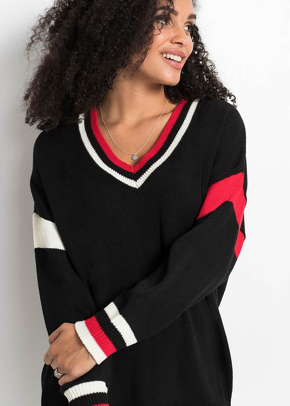 Alternate View Relaxed V-Neck Sweater