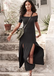 Front View Slit Detail Maxi Dress