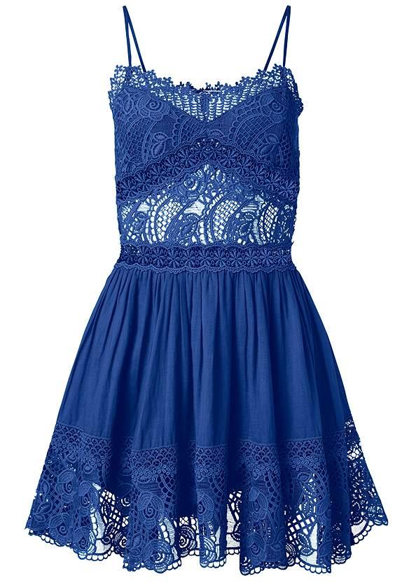 Alternate View Crochet A-Line Mini Dress