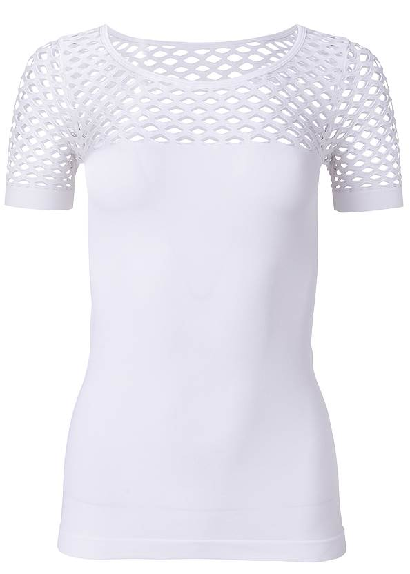 Alternate View Cut Out Seamless Top