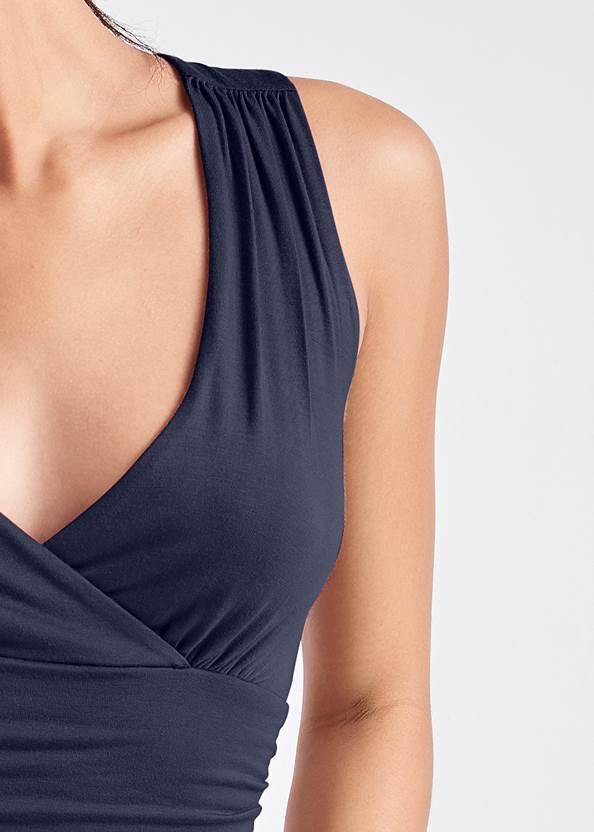 Alternate View Ruched V-Neck Dress