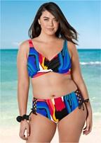 plus size lovely lift wrap bikini top