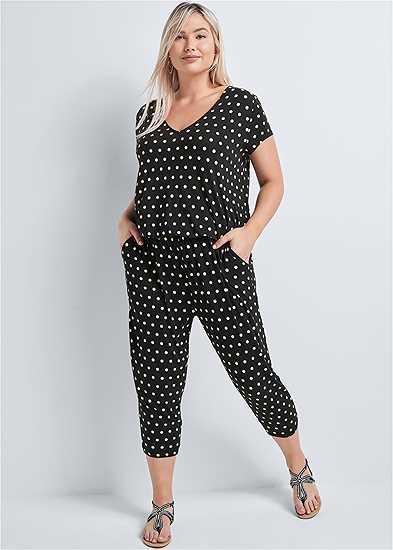 Plus Size Polka Dot Jumpsuit