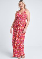 plus size geometric maxi dress