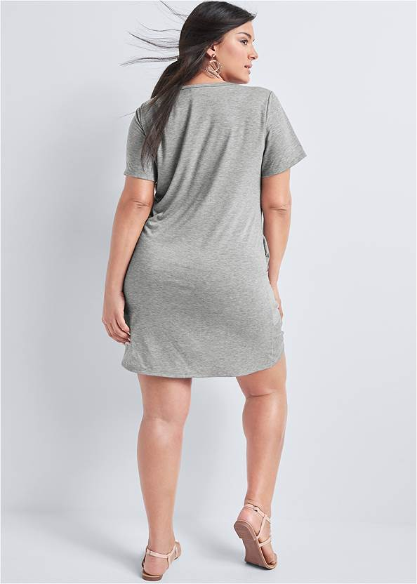 Back View Knotted Casual Dress