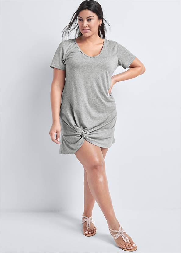 Front View Knotted Casual Dress