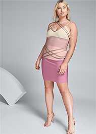 Alternate View Bandage Color Block Dress