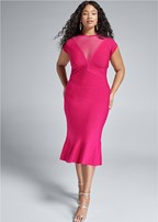plus size bandage peplum dress