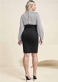 Back View Polka Dot Twofer Dress