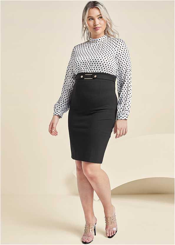 Polka Dot Twofer Dress