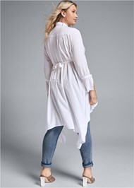 Back View High Low Blouse