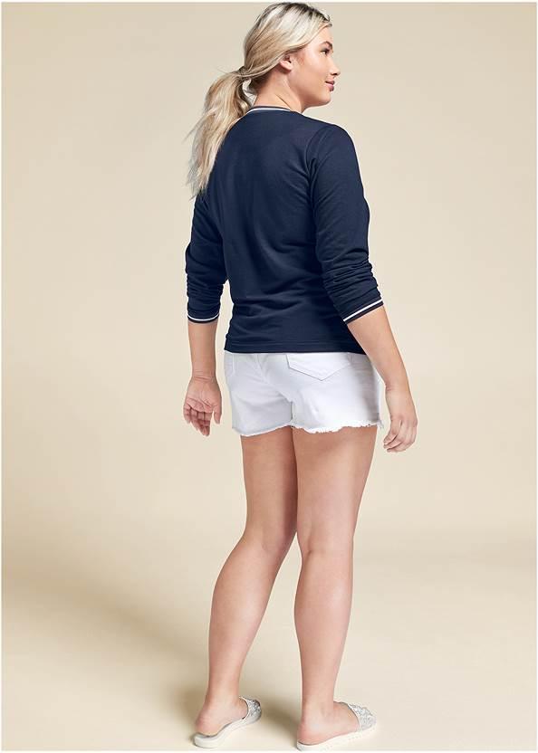 Back View Color Block Sweatshirt