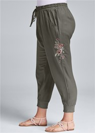 Alternate View Embroidered Pants