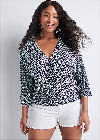 Plus Size Banded Bottom Top