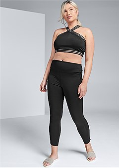 plus size shadow stripe active set