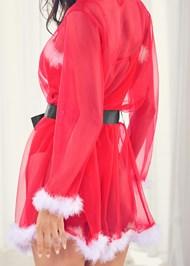 Detail back view Santa Baby Sheer Robe