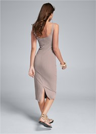 Back View Ribbed Tank Dress