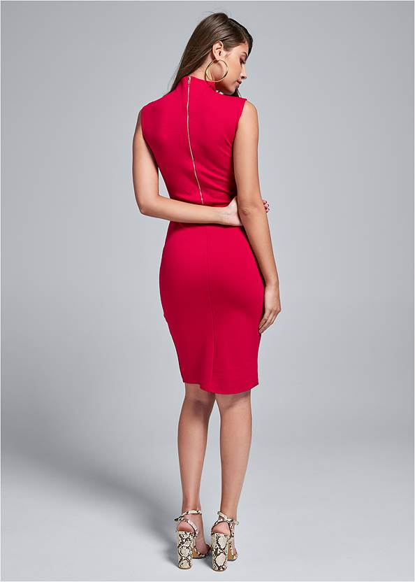 Alternate View Mock V Midi Dress