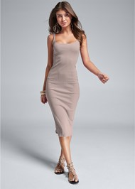 Front View Ribbed Tank Dress