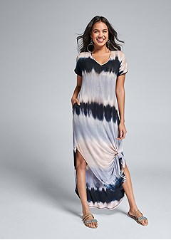 casual tie dye maxi dress