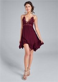 Detail front view Lace Applique Dress