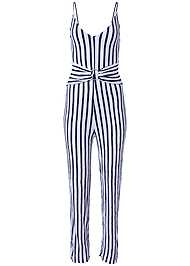 Ghost with background  view Striped Jumper Cover-Up